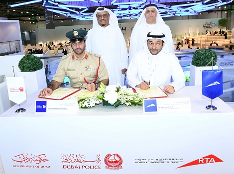 Image of signing of a Memorandum of Understanding (MoU) between RTA and Dubai Police