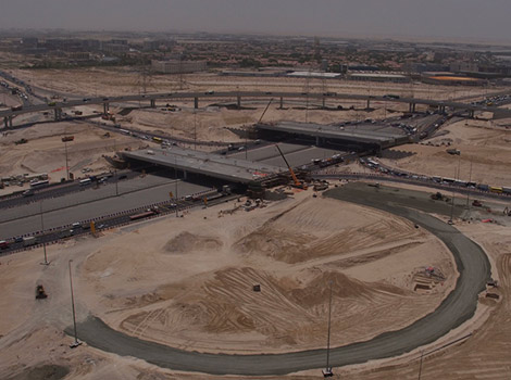 Al Houdh Interchange construction 80% Completed