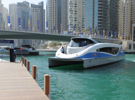 Launching marine transit services at nine stations along Dubai Water Canal, Business Bay