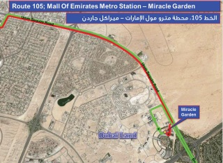 RTA opens new bus route between Mall of the Emirates Station and Miracle Garden