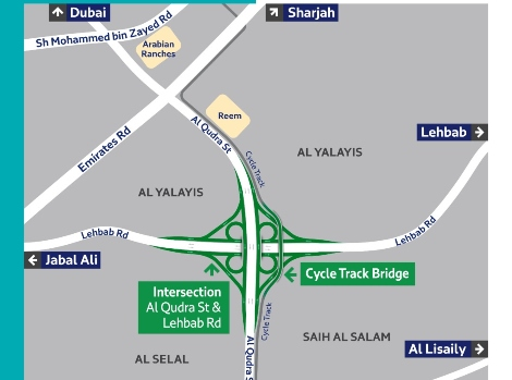 Article image of 65% of Al Qudra-Lehbab roads intersection completed