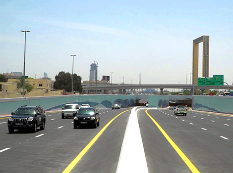 announcement image of Opening 4-lane tunnel on Sheikh Rashid Street