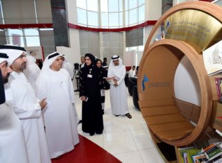 Al Tayer and Bin Huwaireb launching the Knowledge Chair