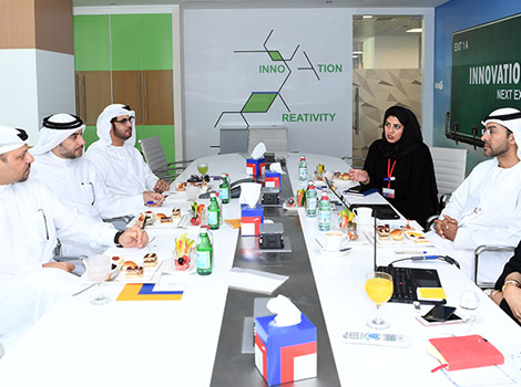 an image of Dubai Media delegation and RTA during the meeting