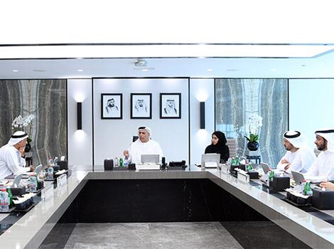 an image of Al Tayer chairing the meeting of the Board of Trustees