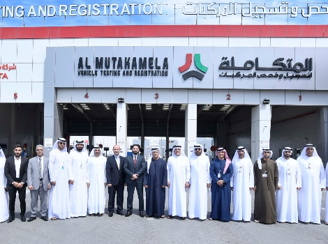 an image of Al Tayer opens Al Mutakamela Vehicle Testing and Registration Centre at Al Quoz