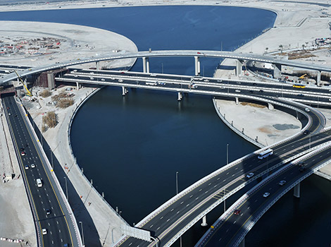 Project image of Completion rate hits 90% in bridge linking Al Khail Rd and Financial Centre Rd