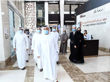 an image during Al Tayer visit to Bin Yaber driving institute