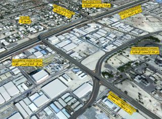 Layout of Al Wasl Road Improvement Project