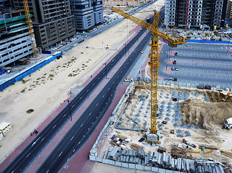 Finishing works of internal roads at Al Mamzar and Nahda 1