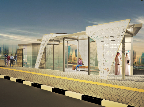 an image of the new Bus shelters design