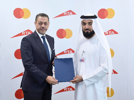 An image after signing the agreement between RTA and Mastercard