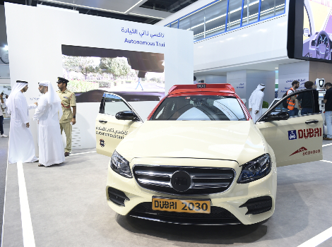an image from Launching the region's first 'Autonomous taxi' at GITEX
