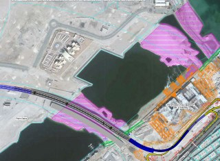 Project of  constructing the Deira Palm Entrance Bridge