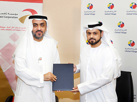 An image about Dubai Taxi inks exclusive agreement to transit Global Village visitors