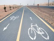 Project image of Cycling lanes in five residential areas