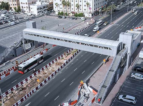 an image of footbridges at Khalid bin Al Waleed, Al Marabea' Street