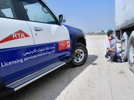 an image of RTA inspection of heavy trucks