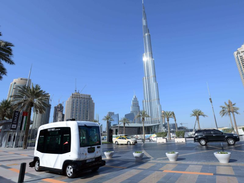 Operating a Smart Vehicle at Mohammed bin Rashid Boulevard