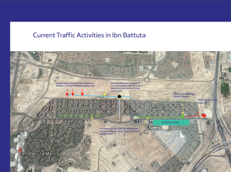 New traffic changes to Ibn Battuta Street, surrounding areas under Route 2020