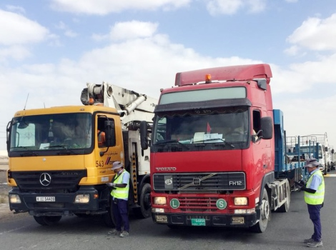 an image of trucks with remote monitoring devices
