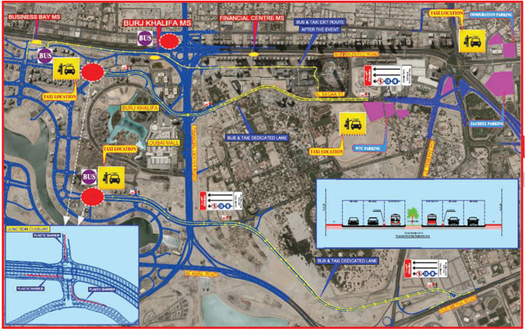 Traffic plan during New Near celebrations