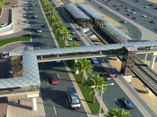 Project image of Completing the construction of 22 pedestrian bridges and starting the construction of 7 others