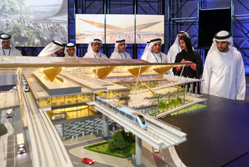 video of Hamdan bin Mohammed lays foundation stone of Route 2020
