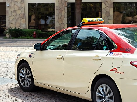 an image of Dubai Taxi vehicle