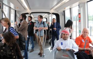 44m riders use Metro and 943 thousand riders use Tram