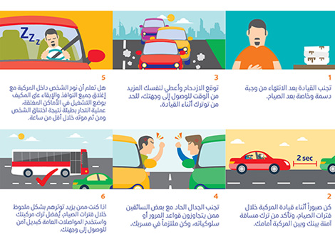 an image of Awareness messages to truck drivers in Ramadan