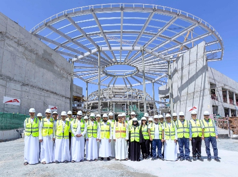 an image of Al Tayer inspecting work progress in the Project