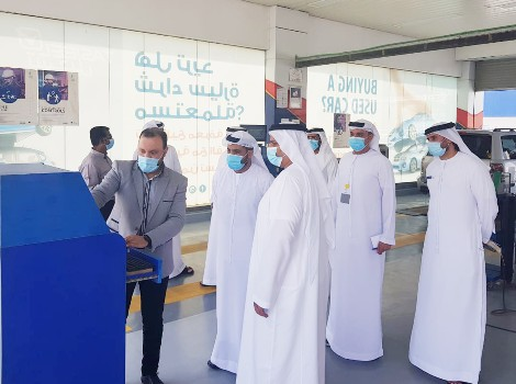 an image during RTA visit to Sharjah police