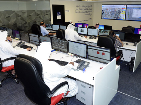 an image of inside the RTA's smart monitoring center