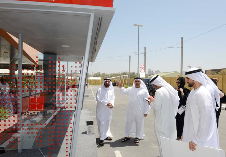Al Tayer inspecting the solar-powered station