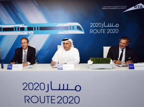 Signing of  contract of Route 2020 Project costing AED10.6 billion
