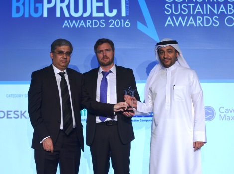 Winning the 'Sustainable Government Department of the Year' category in Big Project ME Awards