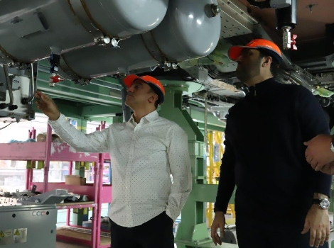an image for Abdul Mohsen Ibrahim Younes inspects manufacturing of- train equipment for Route 2020