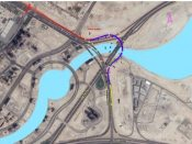 Contract of bridge from Al Khail Rd to Financial Center Rd map