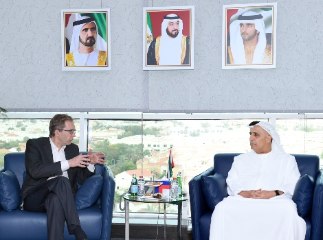 an image of Al Tayer receiving Chairman of Alstom