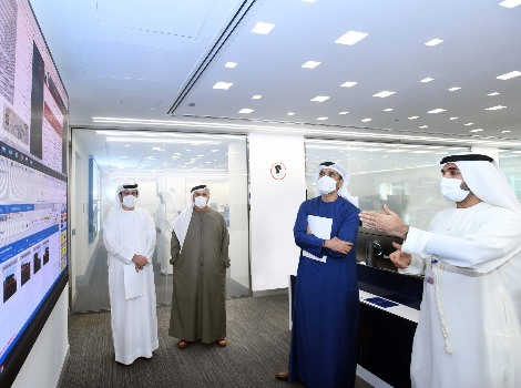 an image of Al Tayer and Al Basti touring the Smart Licensing Operations Centre