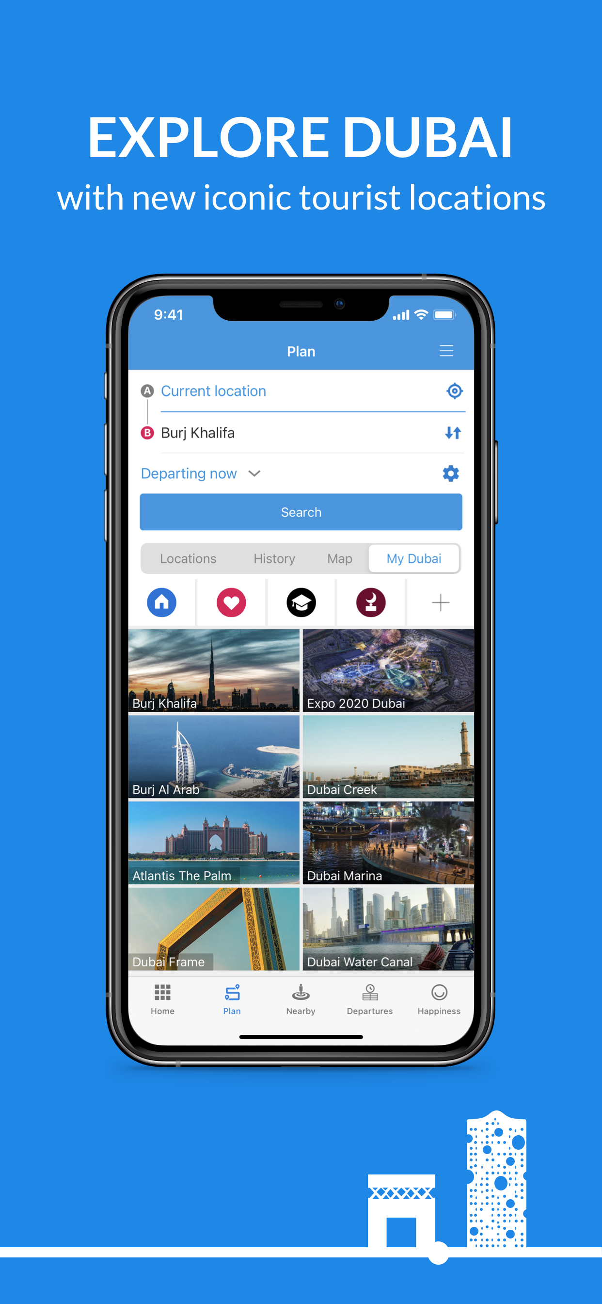 Suhail app Welcome Traveler screen
