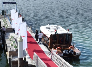 Video on Opening of Jaddaf marine transport station, launching air-conditioned abra