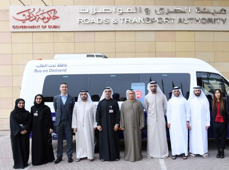 An image from Starting a trial run of 'Bus on Demand' service at Al Barsha, Al Warqaa