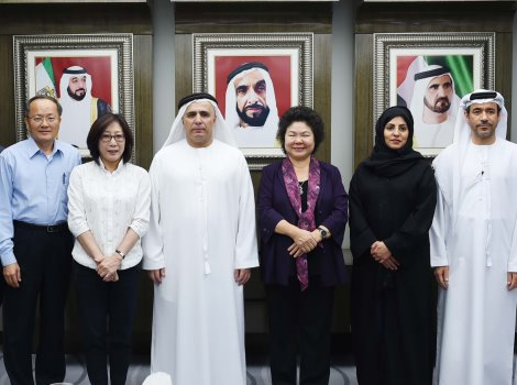 Al Tayer receiving the Taiwanese delegation