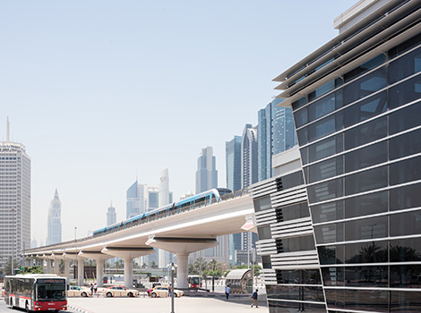 an image of RTA services (Dubai Metro, Dubai Bus and Dubai Taxi)