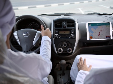 an image during RTA Driving license test