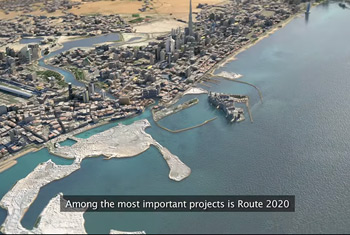vedio of H.H Sheikh Mohammed bin Rashid approves the awarding of Route 2020 Project