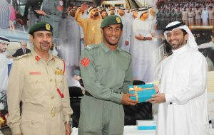 Abdullah Yousef felicitating Police officers