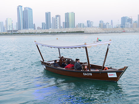 operating of traditional abra at Creek Harbour in coordination with Emaar